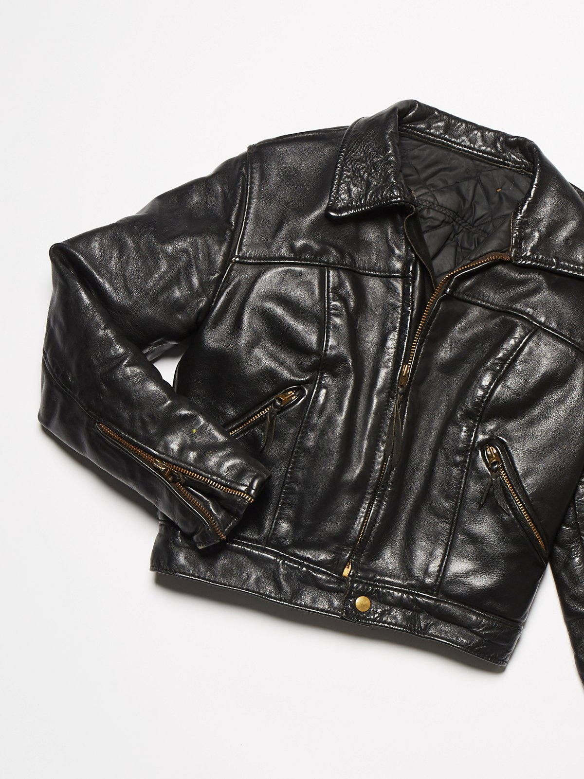 Vintage 1970s Leather Motorcycle Jacket