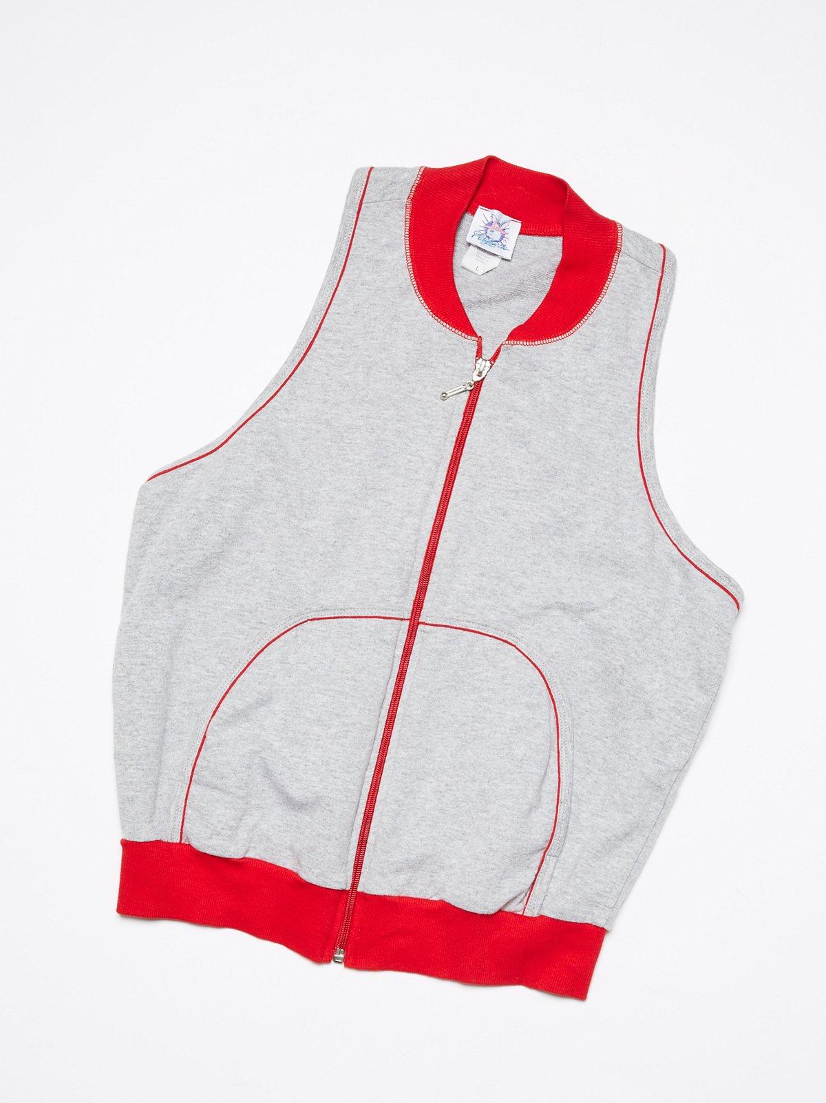 Vintage 1980s Sleeveless Track Jacket