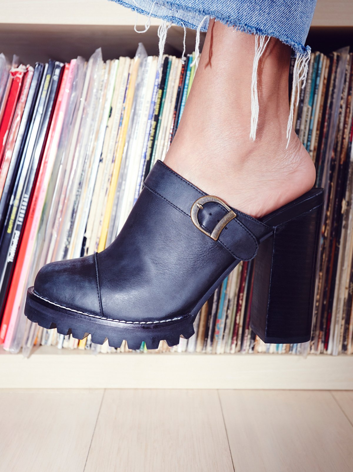 Madison厚底穆勒鞋