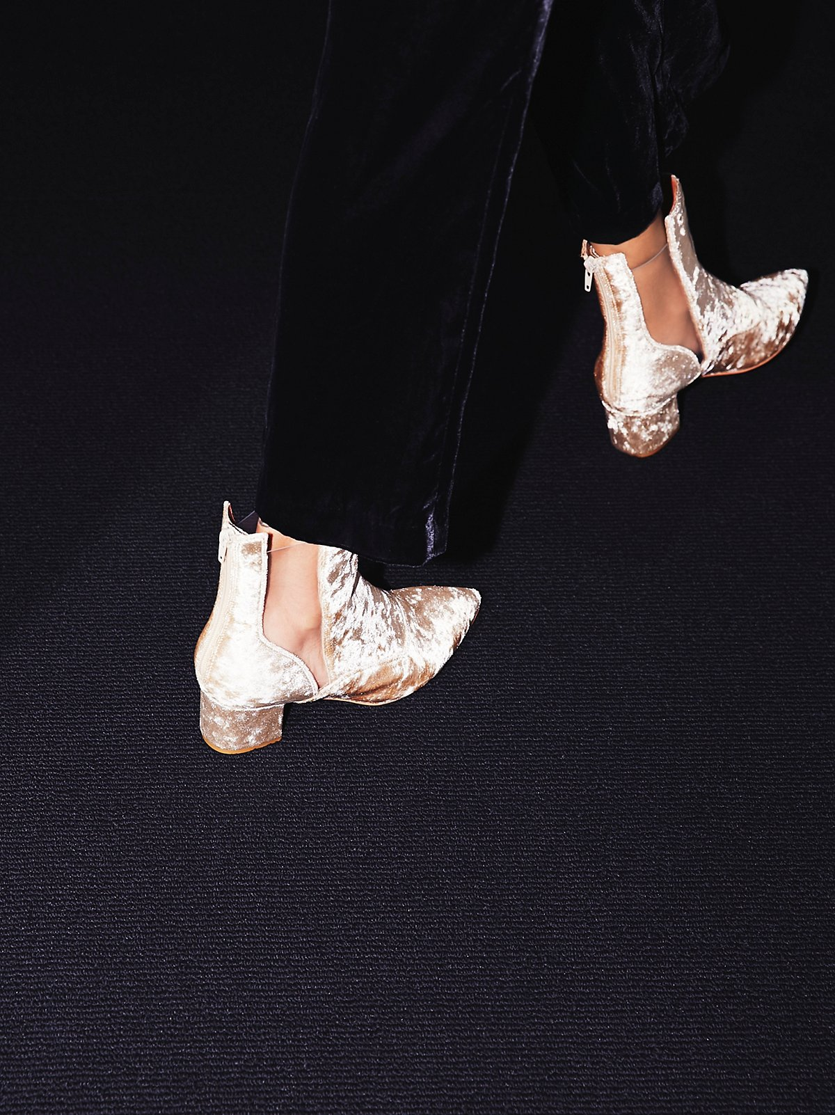 Velveteen Heel Boot