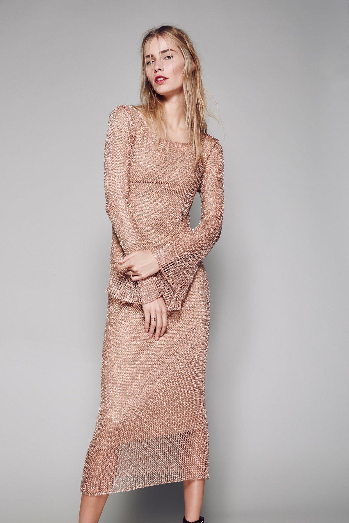 Deliah Metallic Dress