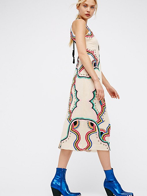Product Image: Far Out Embroidered Midi Dress