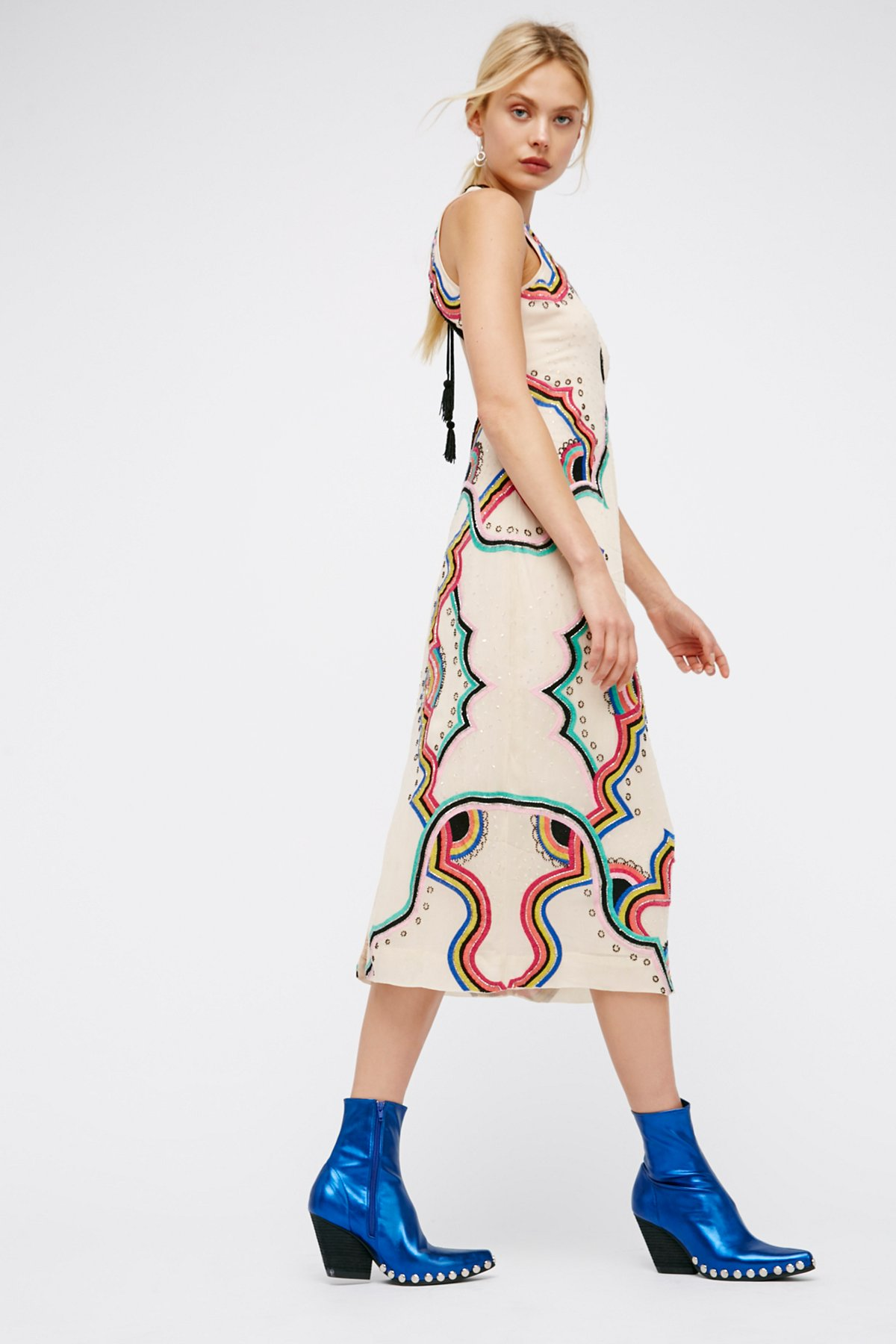 Far Out Embroidered Midi Dress