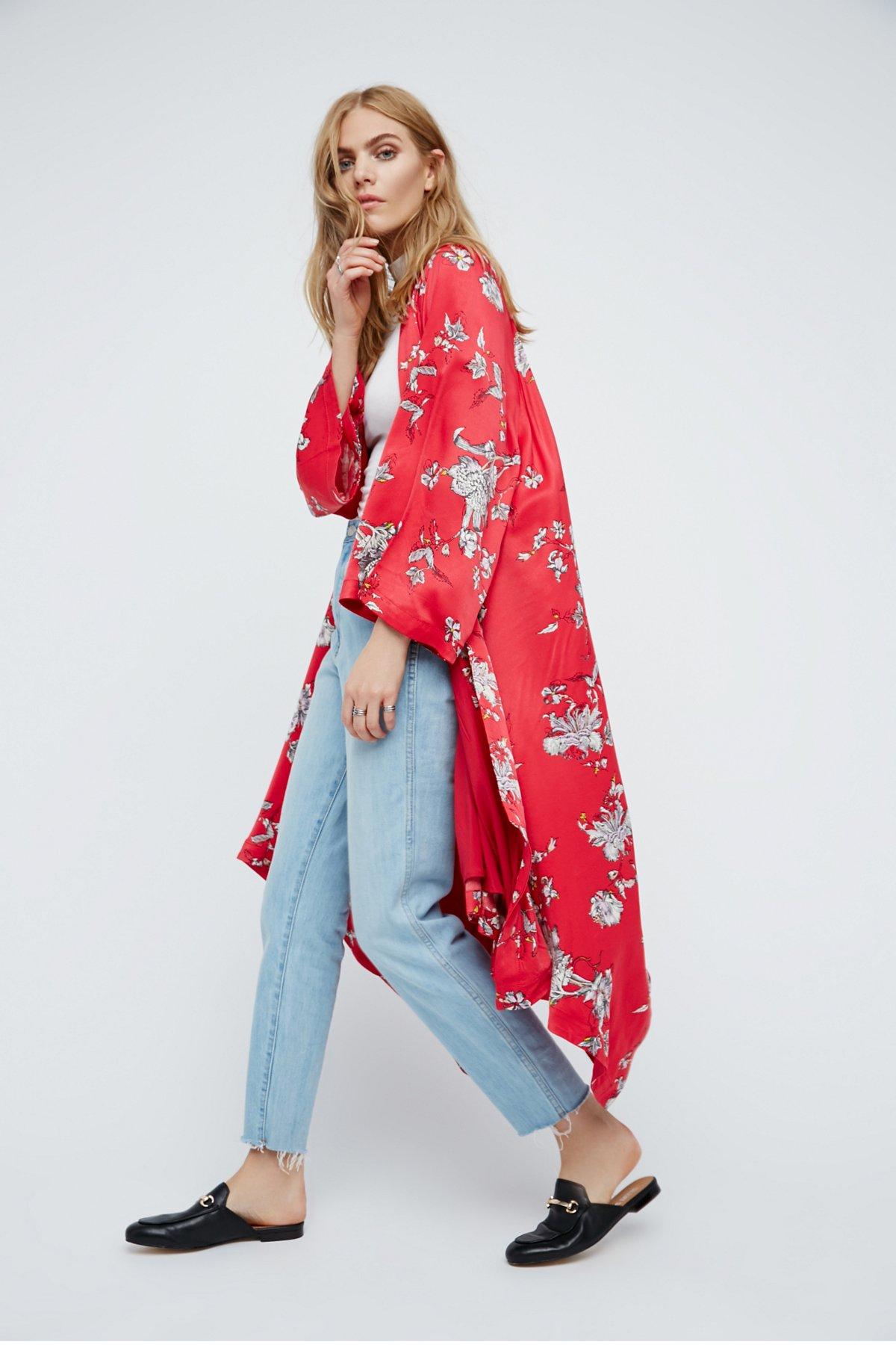 Floral Handkerchief Kimono