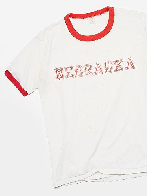 Product Image: Vintage Nebraska Ringer Tee