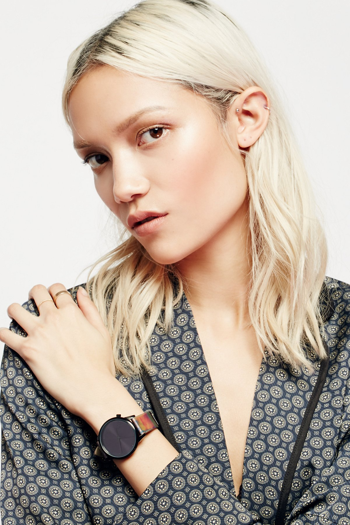 Estelle Iridescent Leather Watch