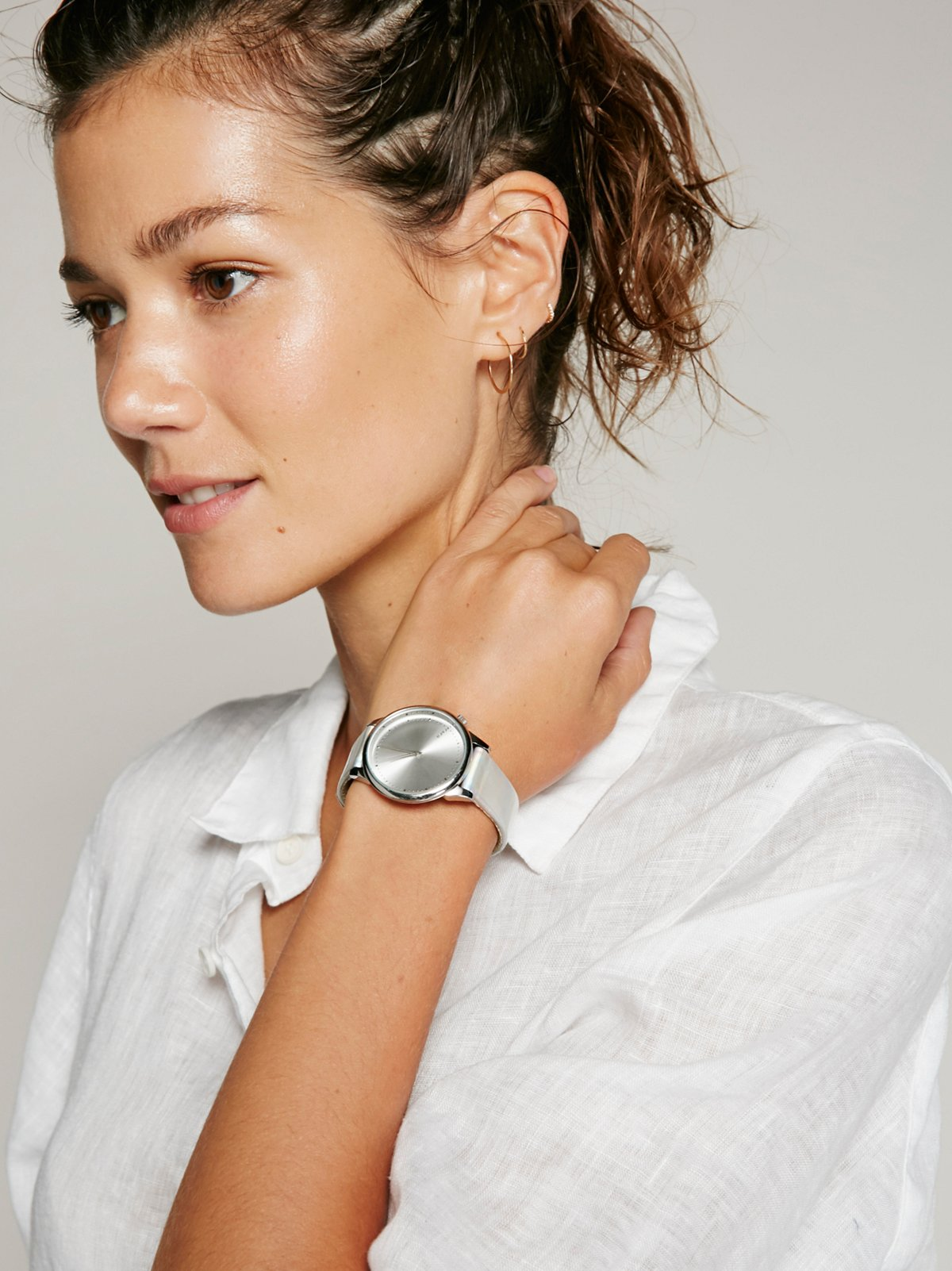 Estelle Iridescent Leather Watch