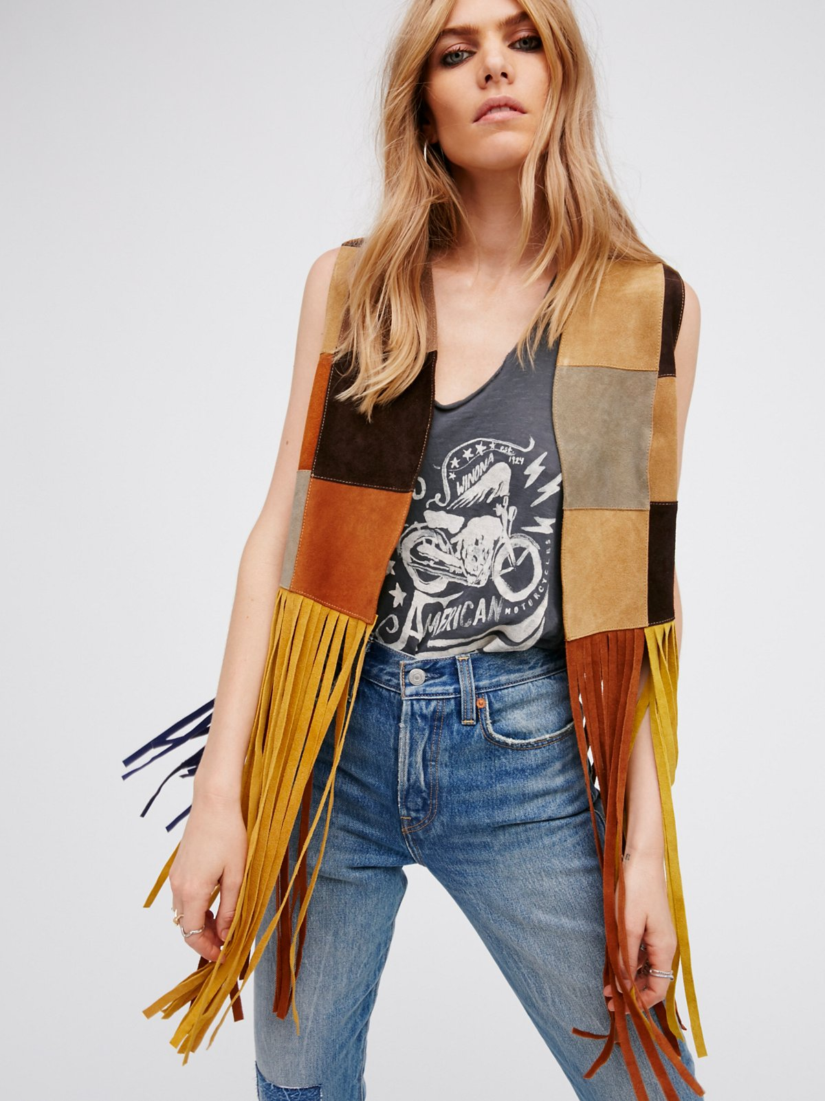 LA Lady Patched Leather Vest