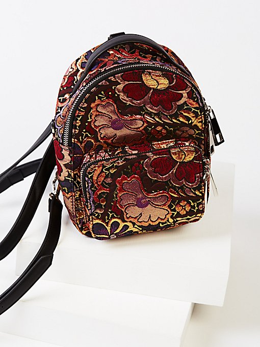 Product Image: Brocade Floral Mini Backpack