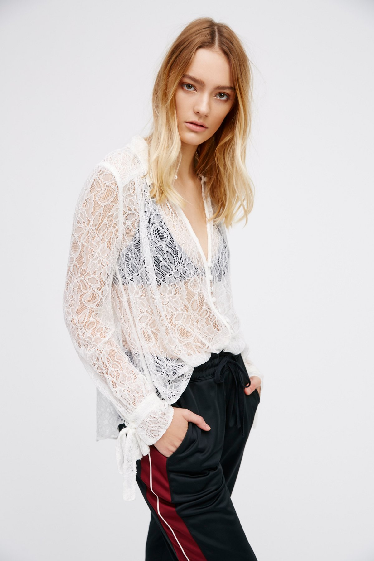Lovely Lace Buttondown