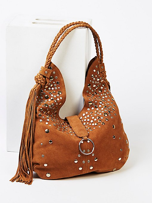 Product Image: Clyde Studded Suede Hobo