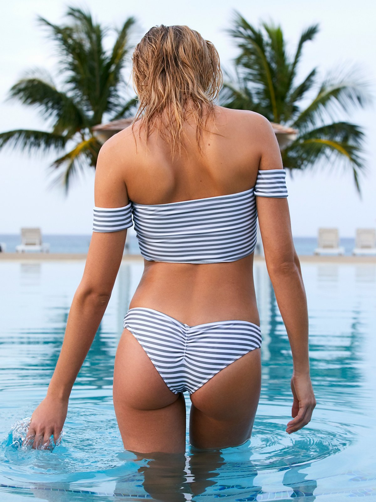 Nikki Stripe Bikini Bottom