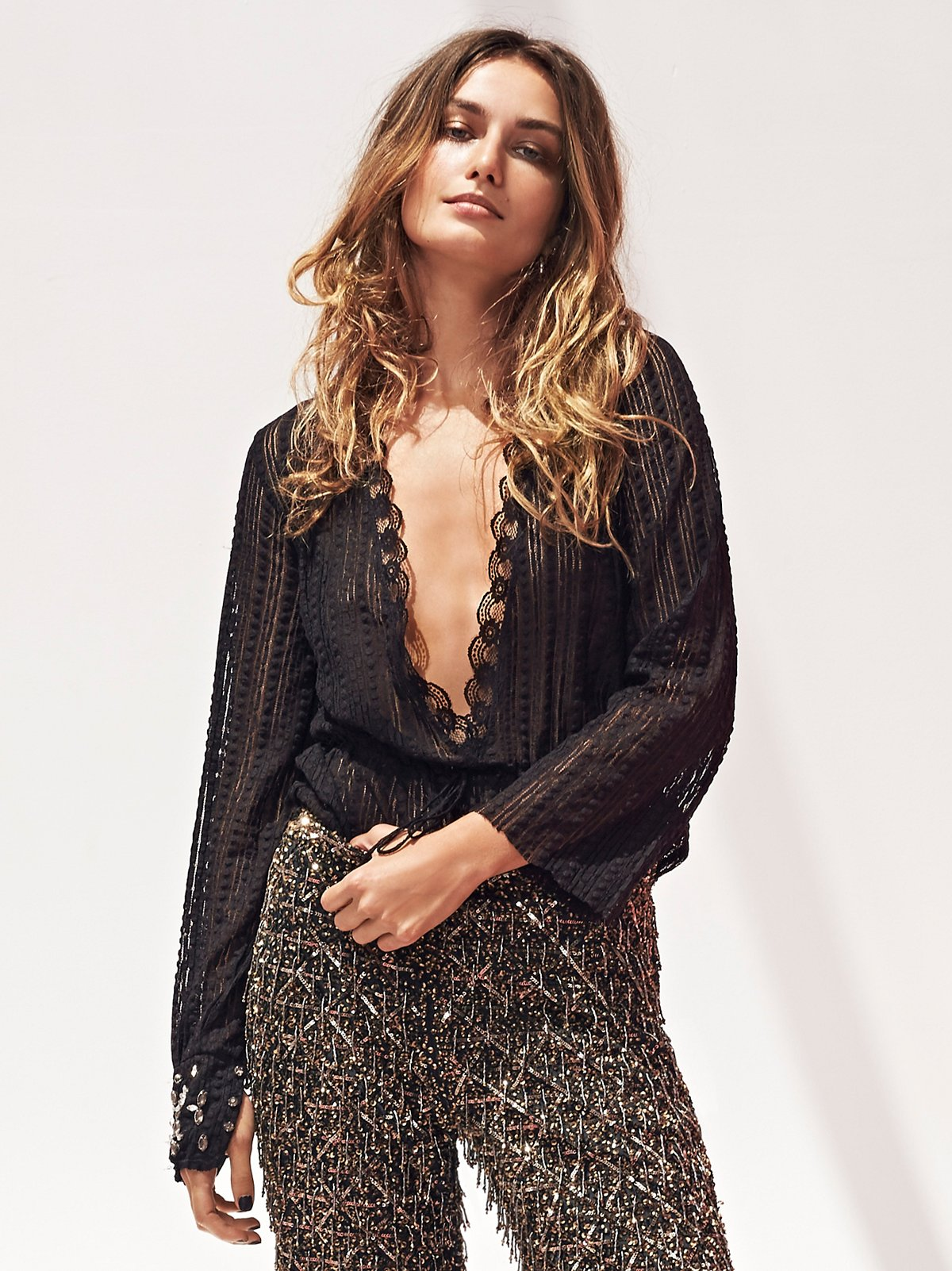 Bedazzled Layering Top