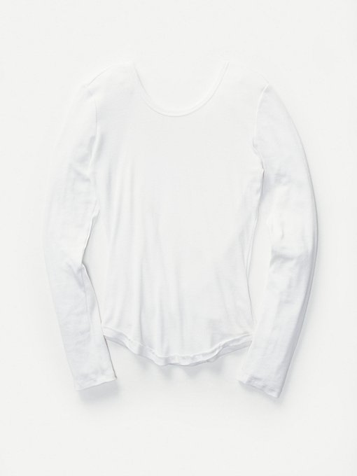 Product Image: Surplice Back Long Sleeve Layering Top