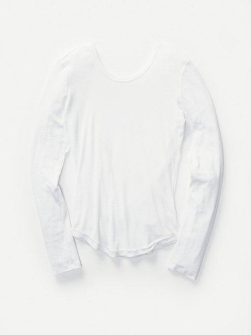 Product Image: 背面斜叠长袖层搭上衣