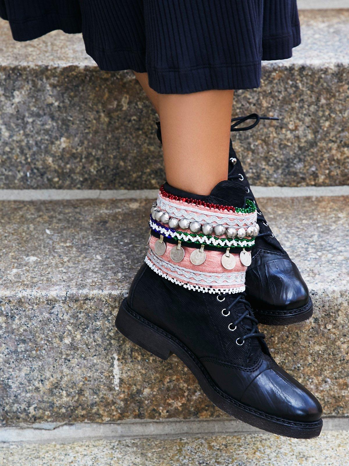 复古靴筒装饰圈