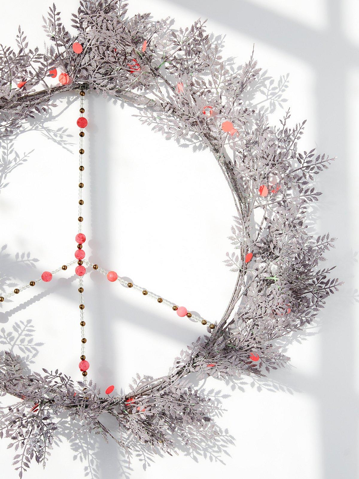 Metal Peace Wreath