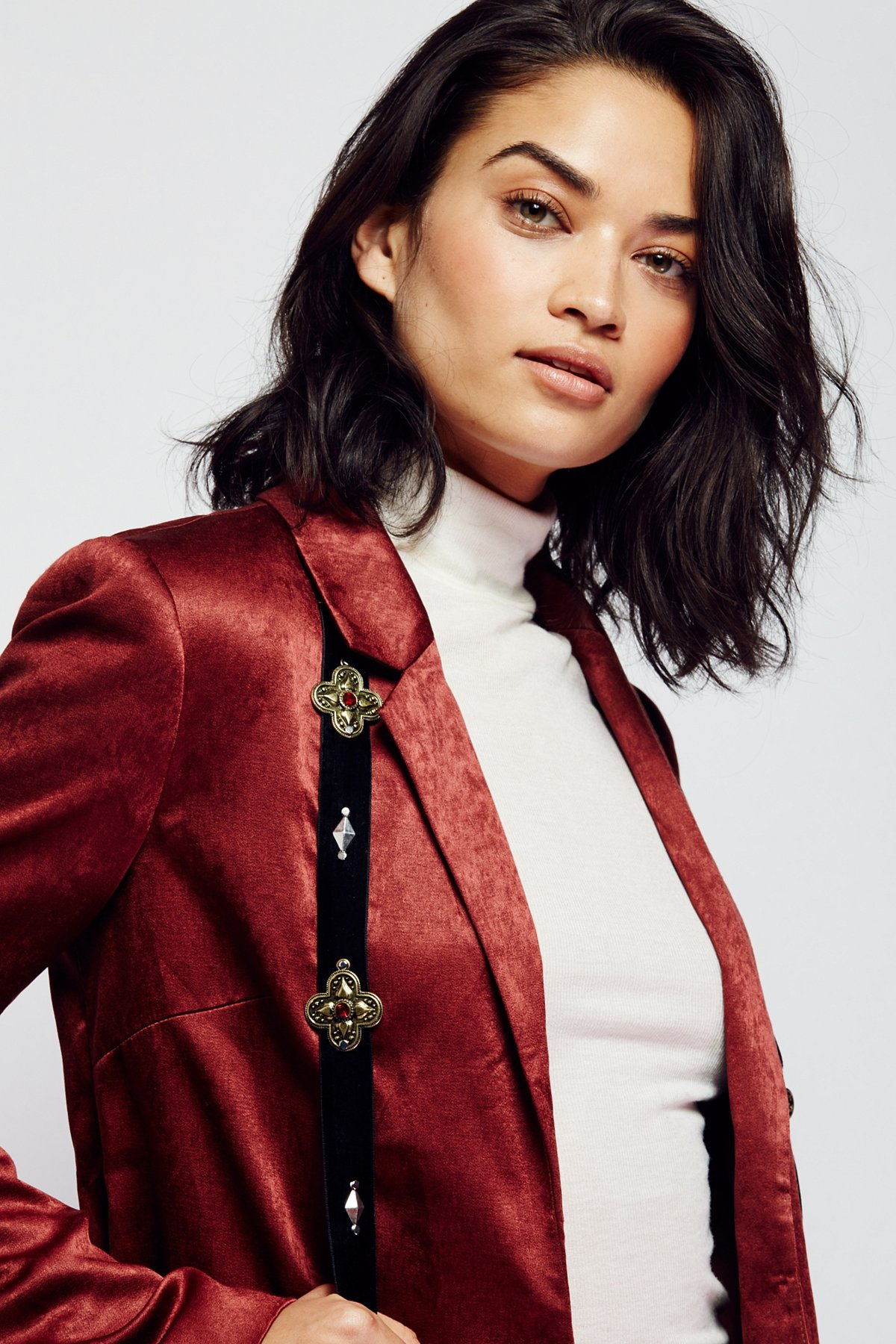 Embellished Velvet Harness