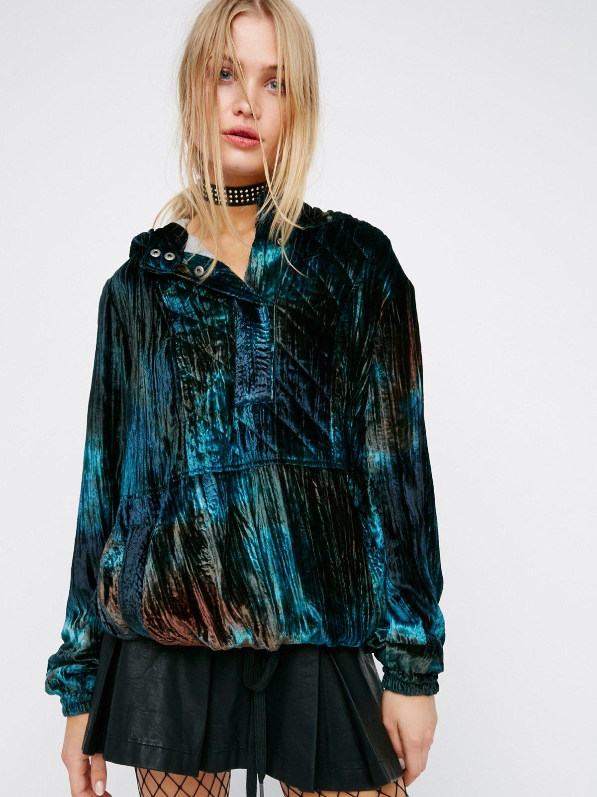 Ombre Print Velvet Pullover
