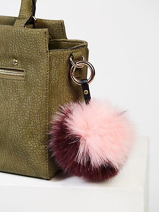 Product Image: Multi Faux Fur Pompom Bag Charm