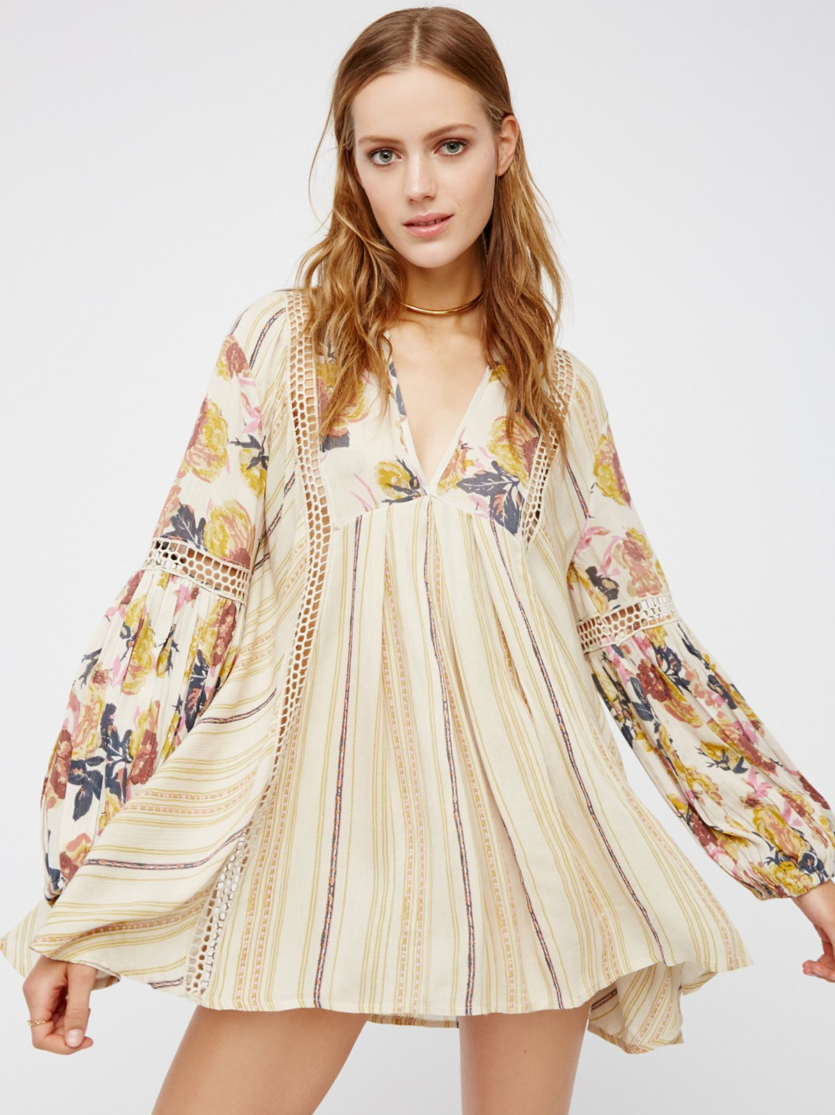 Just The Two Of Us Mixed Printed Tunic
