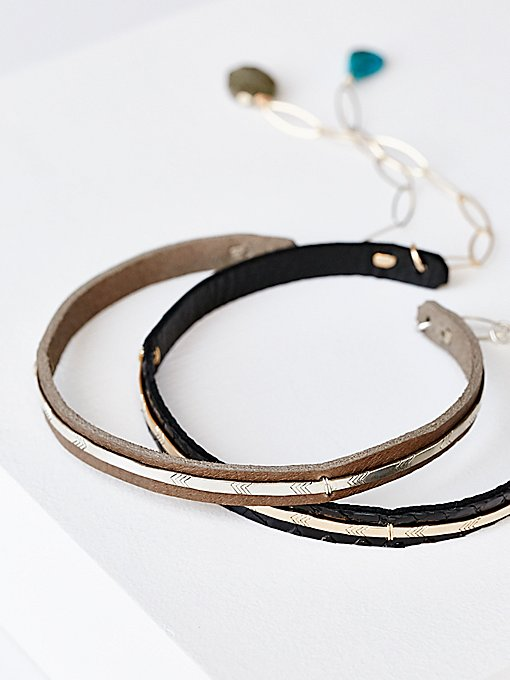 Product Image: Bar Front Leather Choker