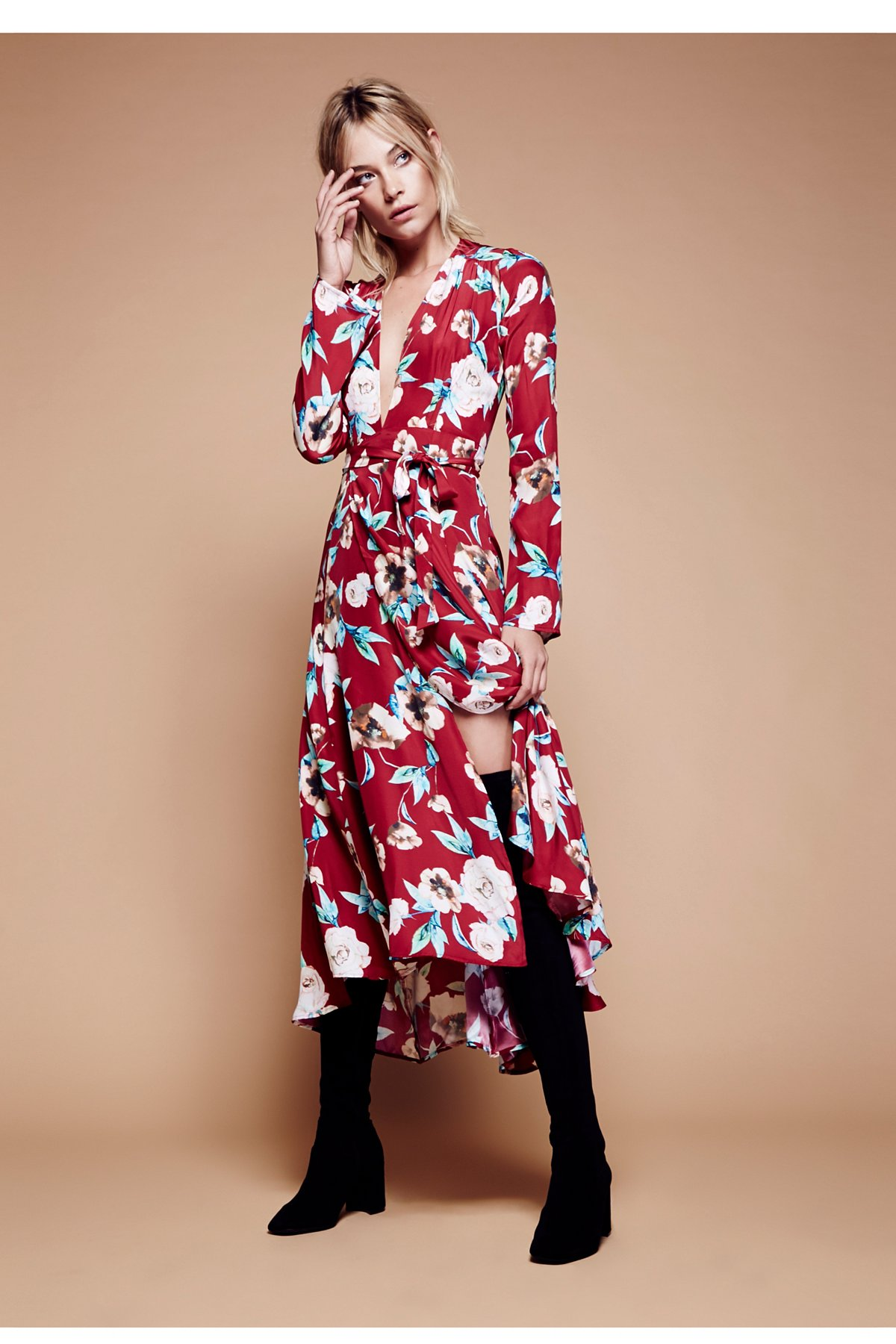 Nico Printed Maxi Gown