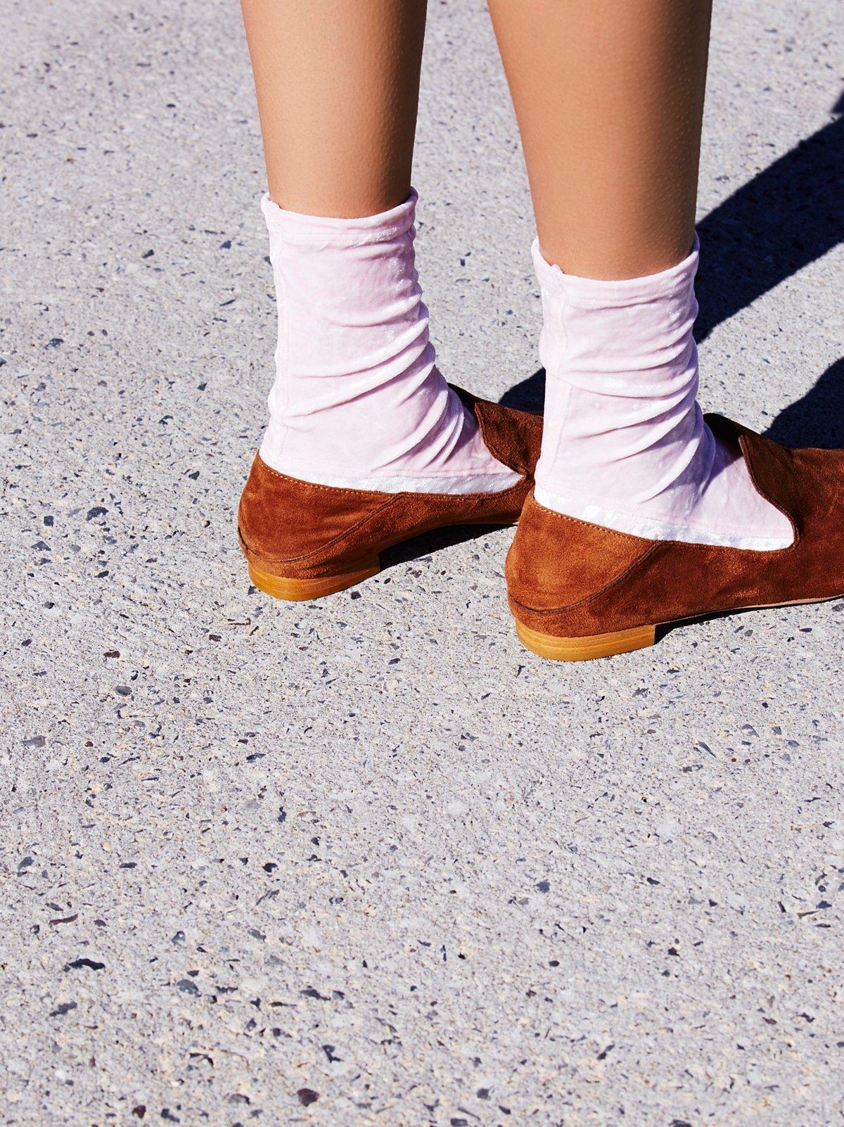 Velvet Darner Crew Sock
