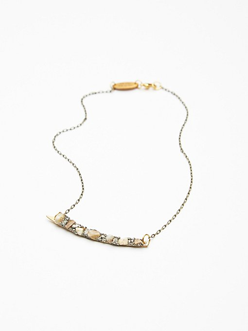 Product Image: Raw Stone Crescent Choker