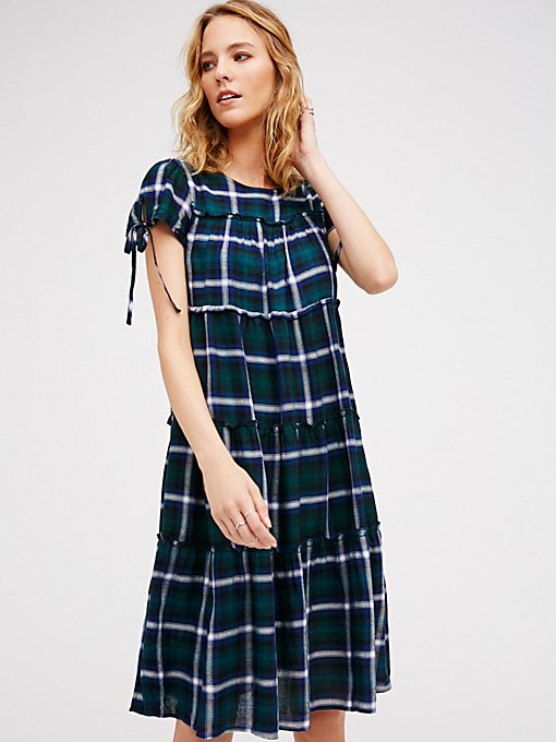 Product Image: Walk The Line Plaid Midi