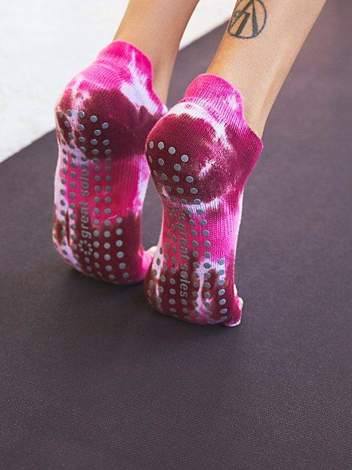 Product Image: Tie Dye Grip Yoga Sock