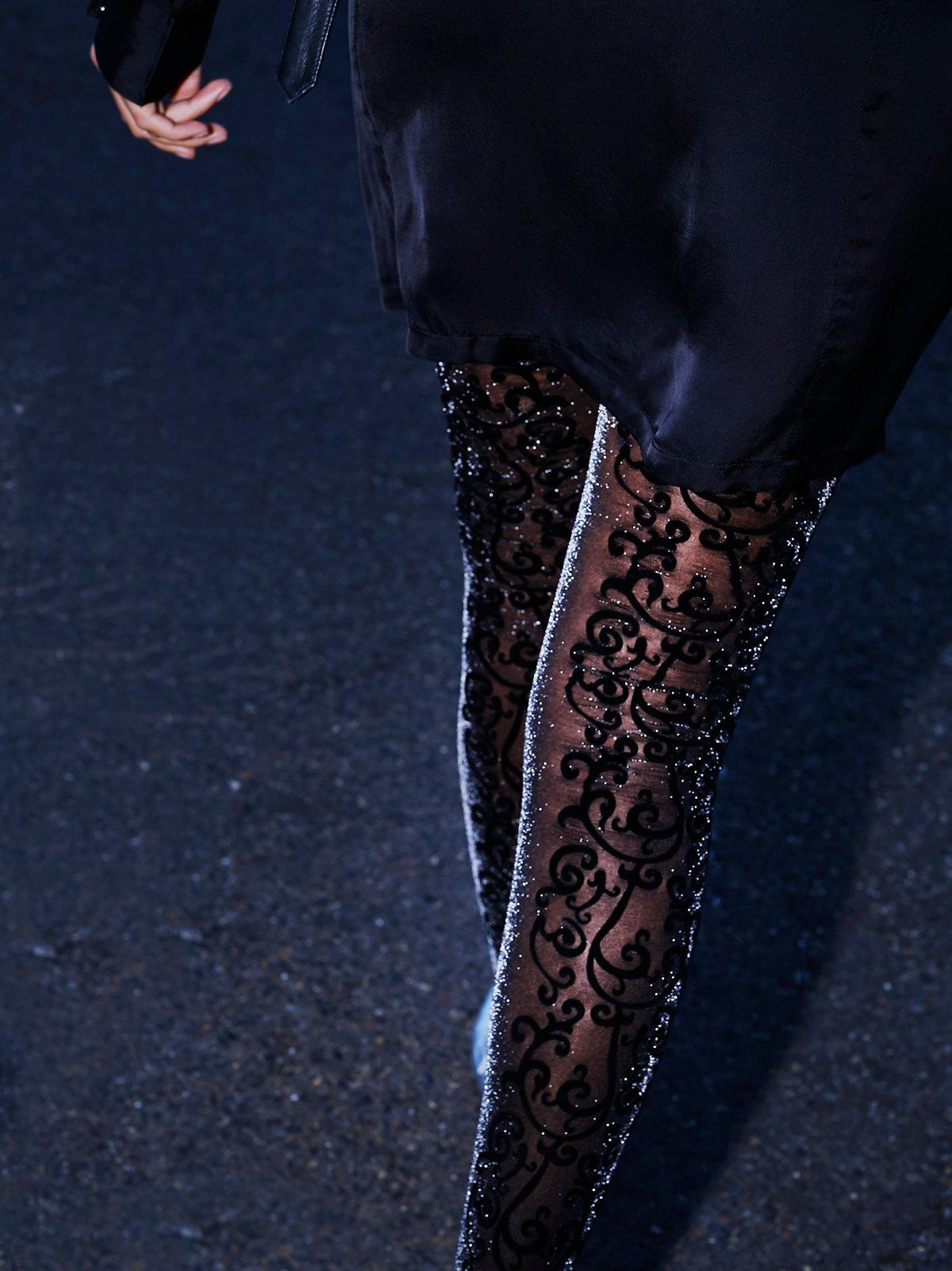 Stolen Dance花朵图案打底连裤袜