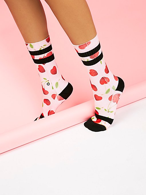 Product Image: Cherry Hearts Crew Sock
