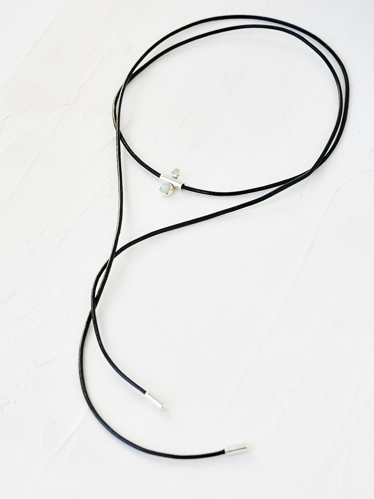 Leather Wrap Opal Bolo