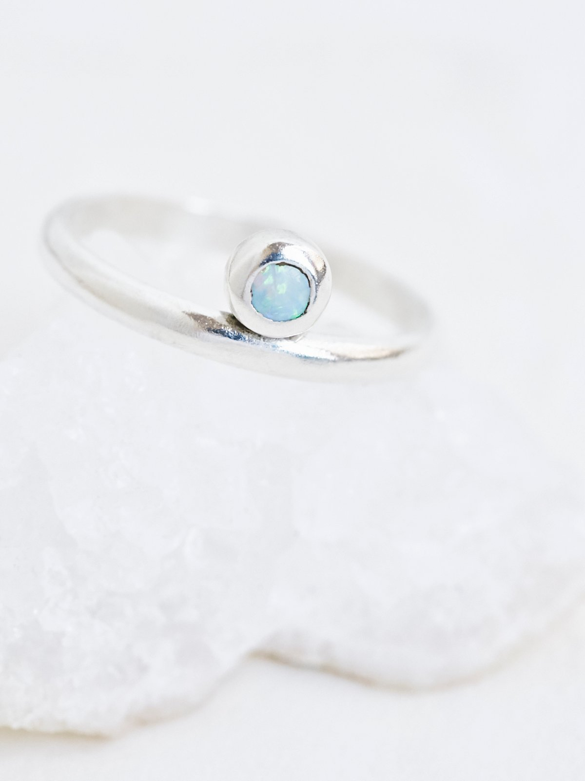 Parallel Opal Ring