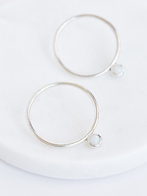 Product Image: Parallel Opal Drop Hoops