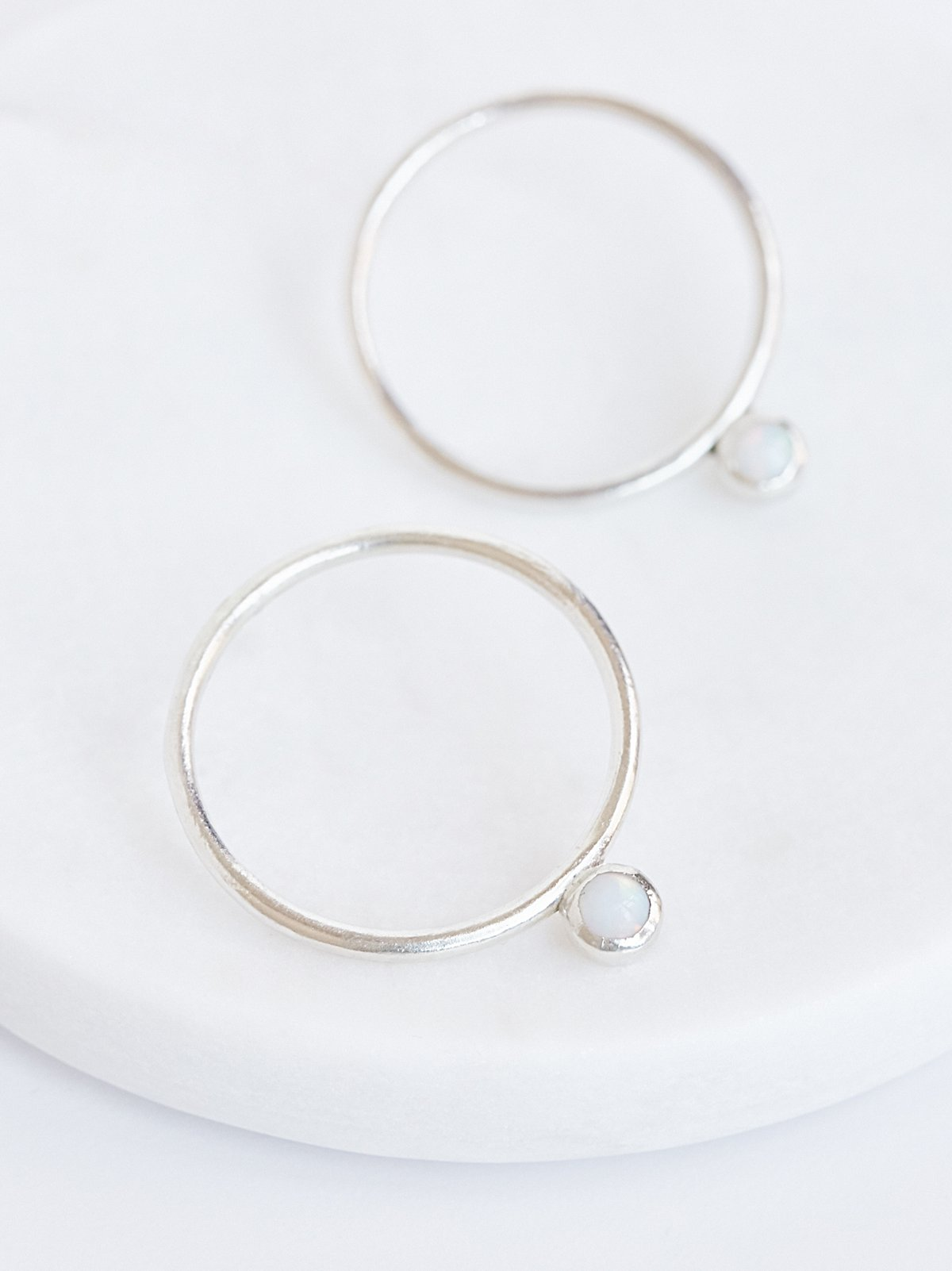 Parallel Opal Drop Hoops