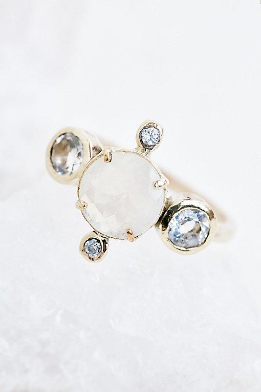 Product Image: 14K Polaris Opal x White Topaz Ring