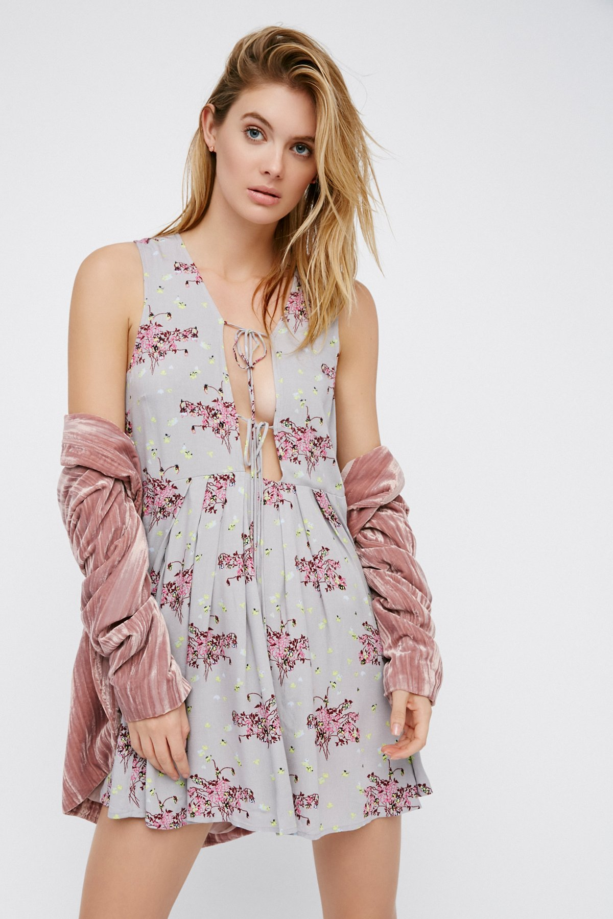 Lovely Day Printed Tie Tunic