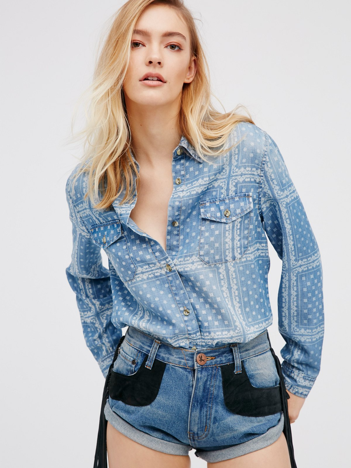 Denim Bandana Buttondown