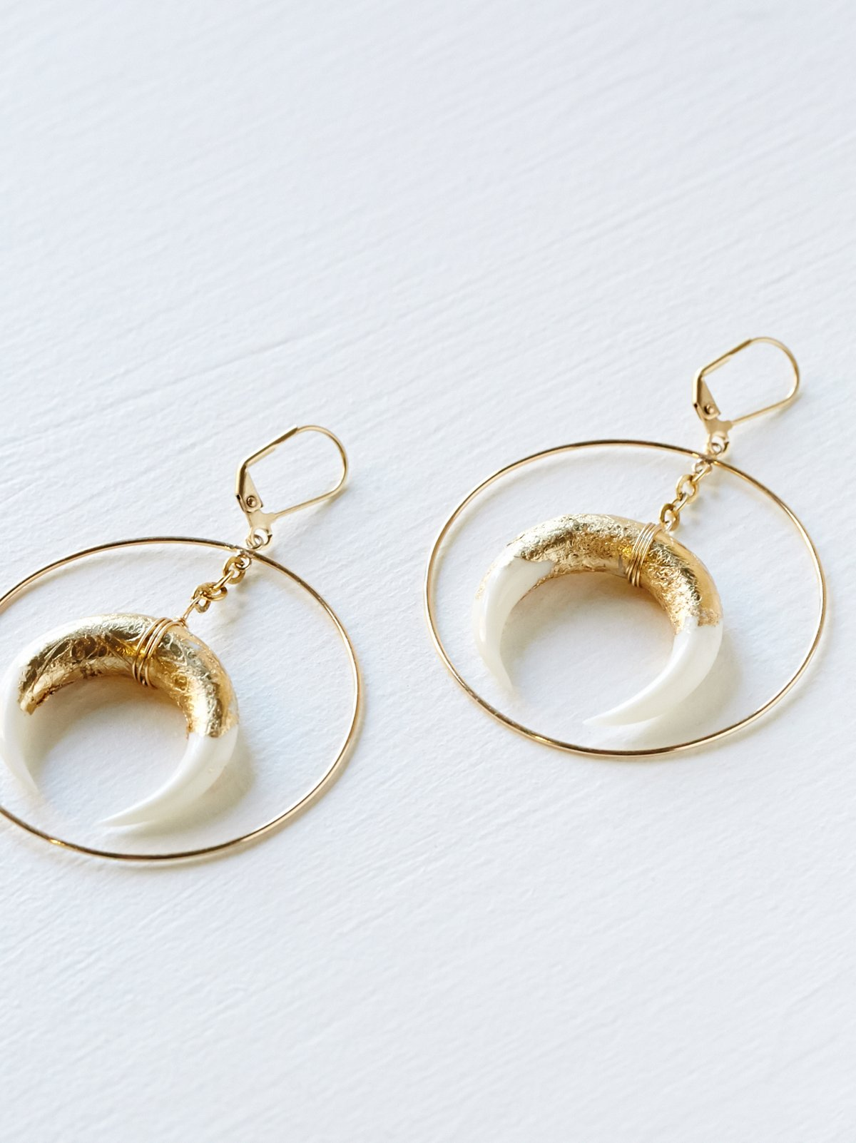 Foiled Horn Hoops