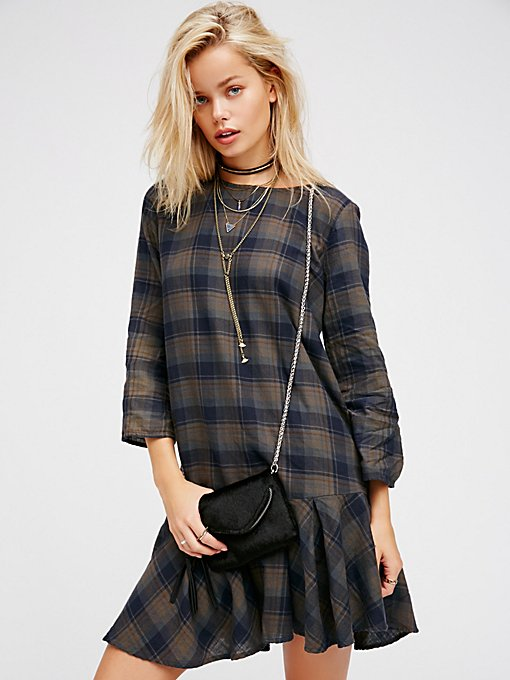 Product Image: Drop It Low Plaid Mini Dress