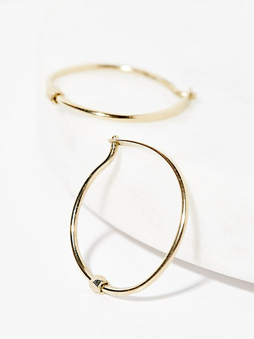 Product Image: Gold Ball Sleeper Hoops