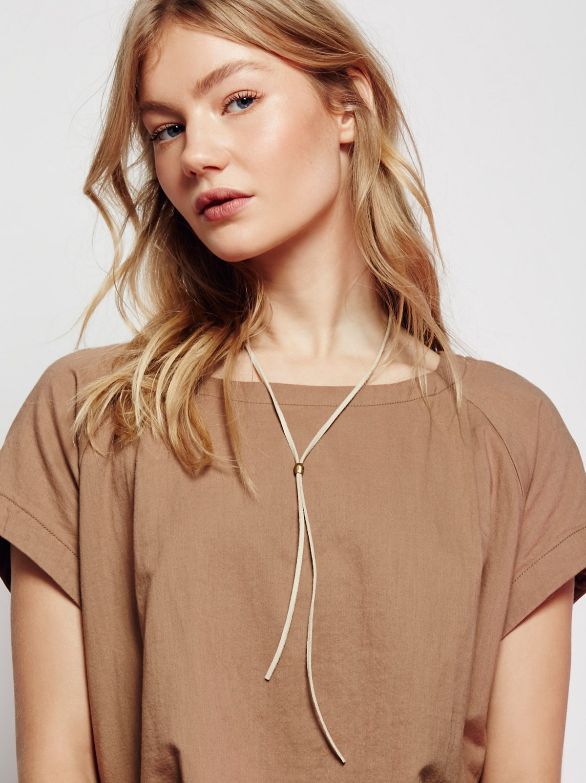 Short Leather Wrap Bolo