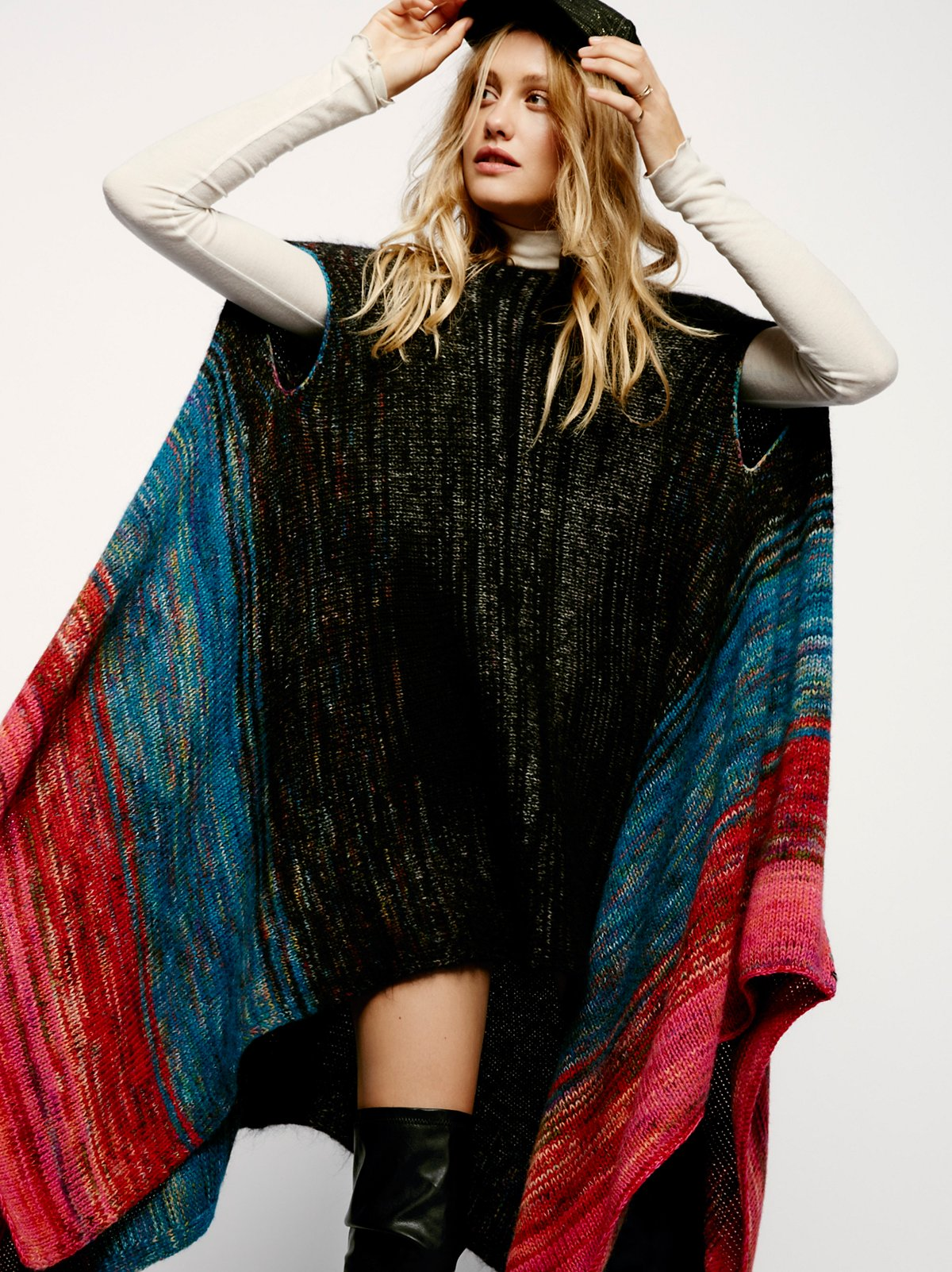 Gemstone Stripe Poncho