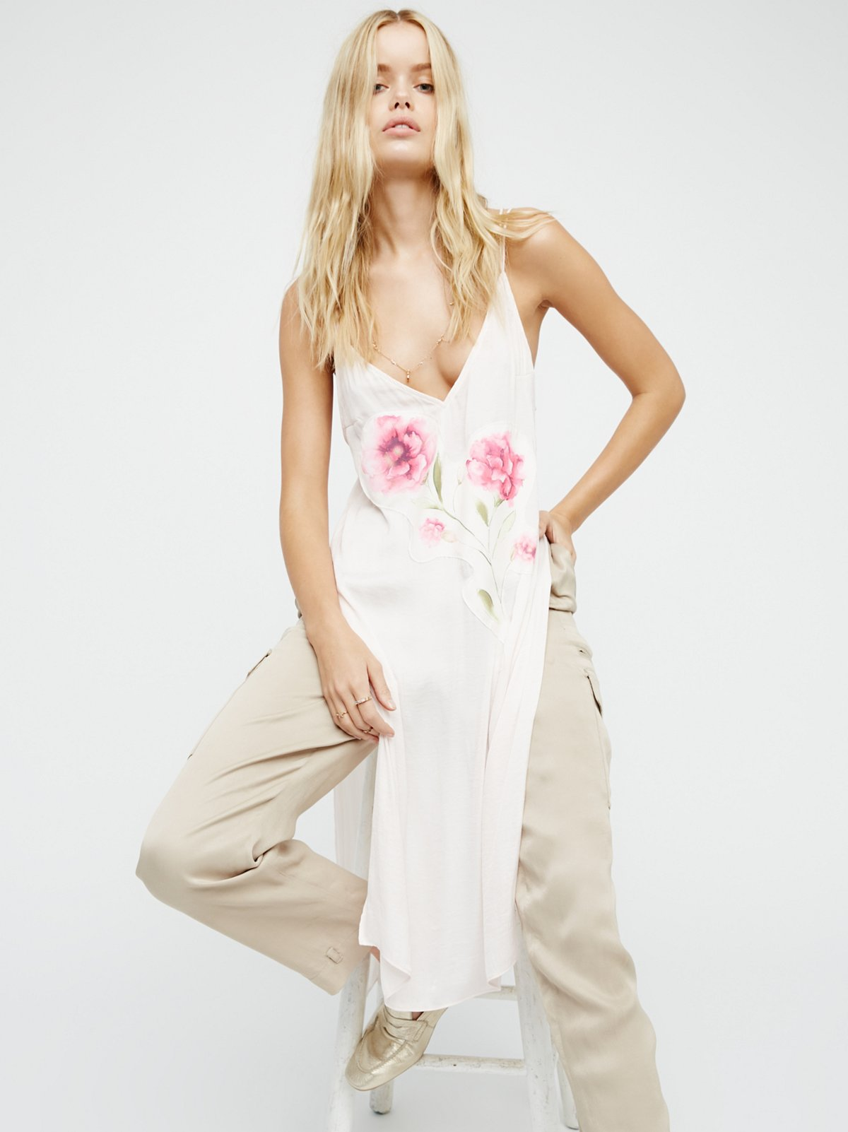 Lone Flower Maxi Top