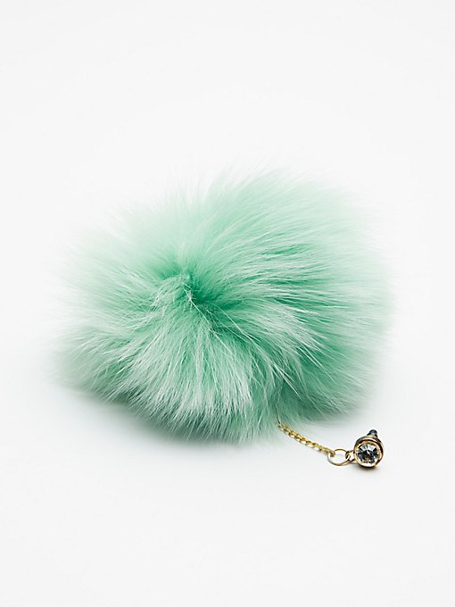 Product Image: Faux Fur Pom Phone Charm