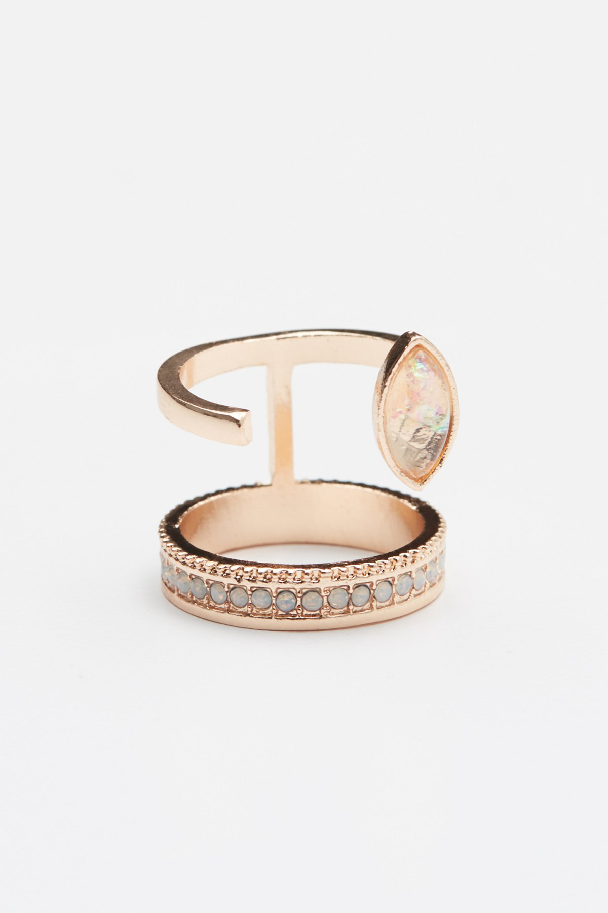 Opal Eye Cut Out Ring