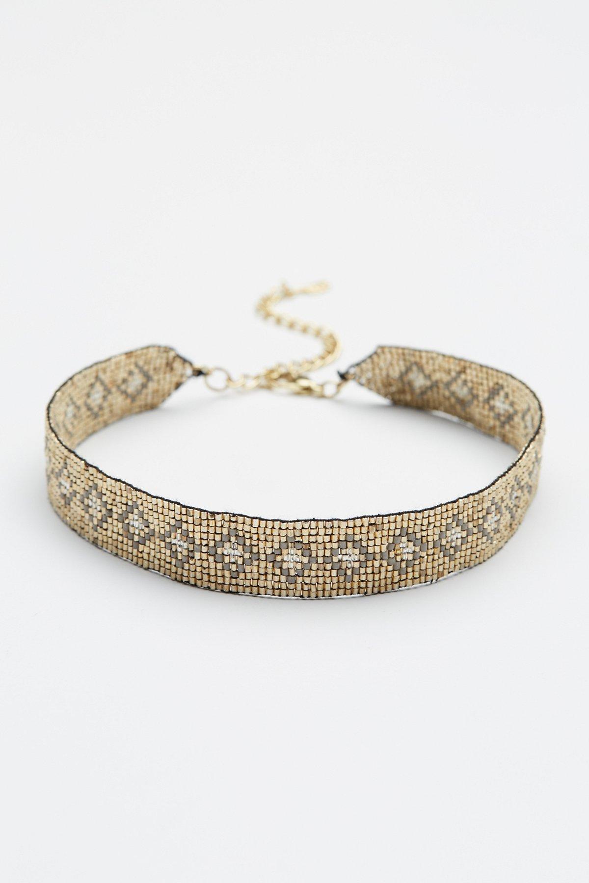 Oasis金属光泽串珠颈链