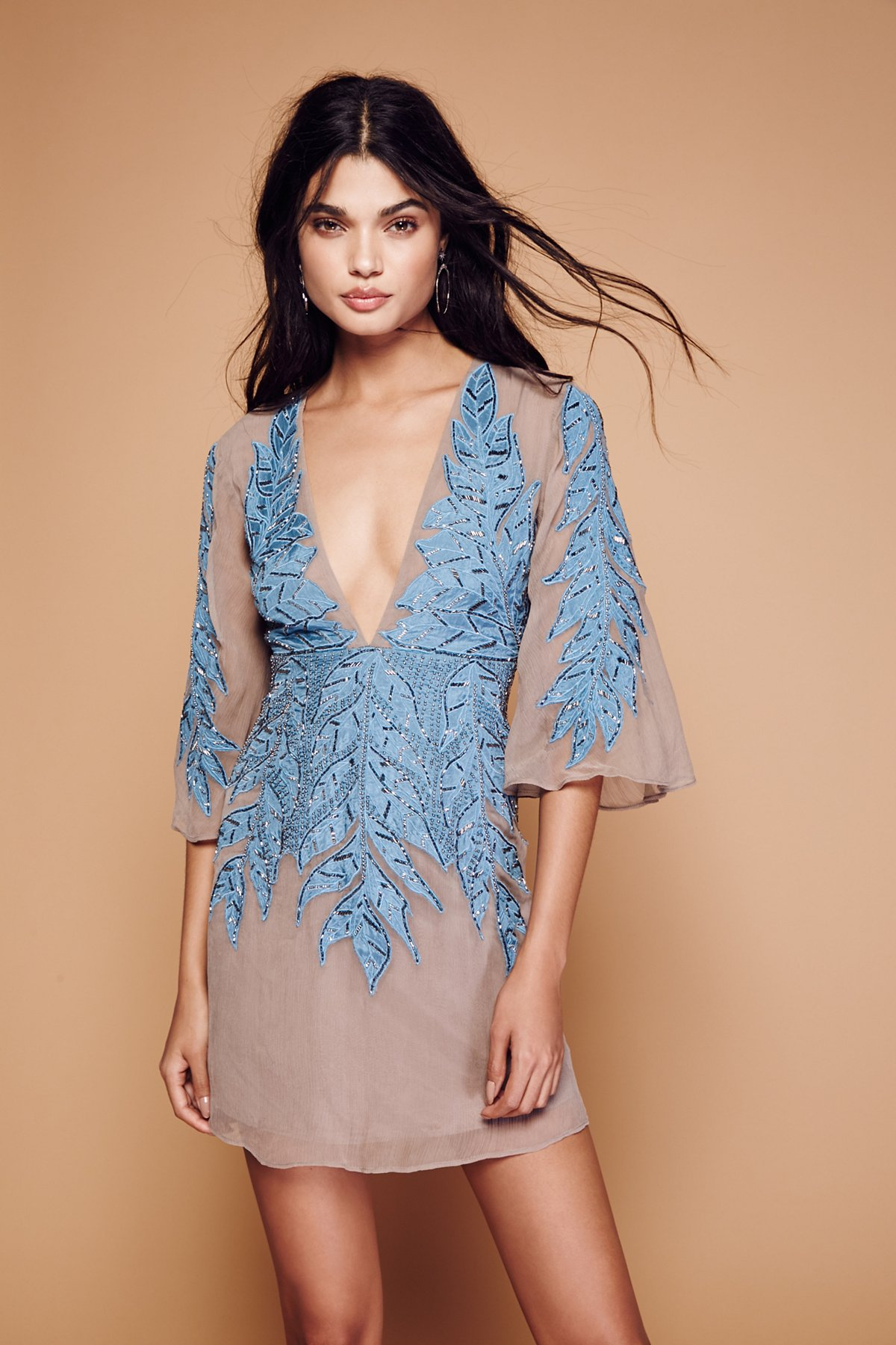 Songbird Embellished Mini Dress